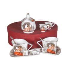 Home Elements Porcelánová sada na čaj a kávu - Mucha