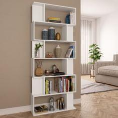 shumee Knihovna/zástěna do pokoje bílá 80 x 24 x 192 cm dřevotříska