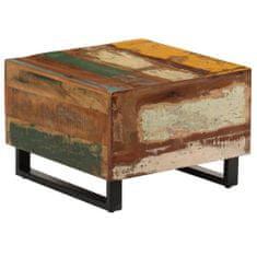 Konferenčný stolík 50x50x35 cm masívne recyklované drevo