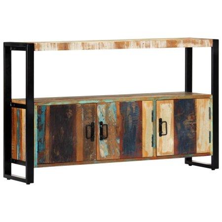 shumee tömör újrahasznosított fa tálalószekrény 120 x 30 x 75 cm