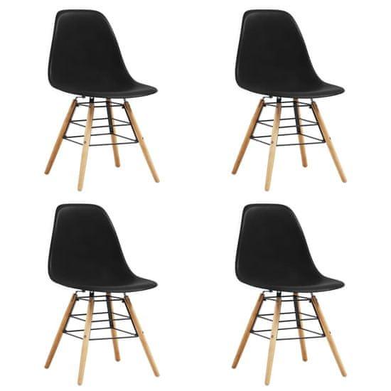 shumee Jídelní židle 4 ks černé plast