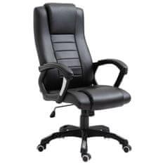 Kancelárske kreslo čierne umelá koža