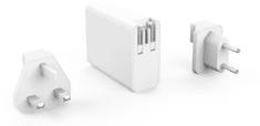 Hyper HyperJuice 100W GaN nabíjecí adaptér s 2x USB-C a 2xUSB 3.0 včetně cestovních redukcí (HY-HJ-GAN100)
