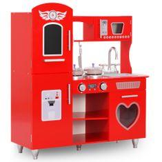Zabawkowa kuchnia, MDF, 84 x 31 x 89 cm, czerwona
