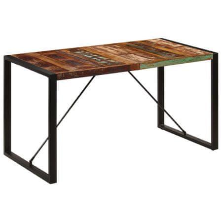 shumee tömör újrahasznosított fa étkezőasztal 140 x 70 x 75 cm