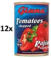 Giana Paradajky lúpané krájané 12 × 425ml