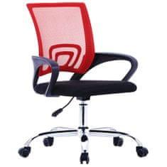 Vidaxl Kancelářské křeslo se síťovaným opěradlem červené textil