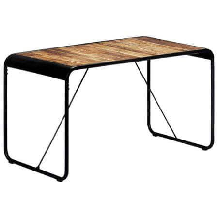 slomart Jedilna miza 140x70x76 cm trden robusten mangov les