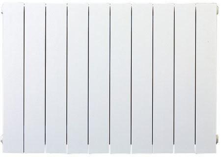 Lipovica Hliníkový radiátor PLANO - 700 - 22 článků, spodní připojení PLUS, pravé, přímé, výkon 3234 Wattů