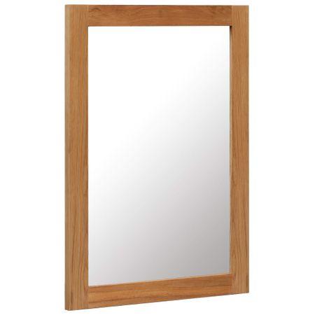 shumee tükör tömör tölgyfa kerettel 50 x 70 cm