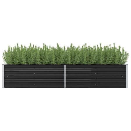 shumee antracitszürke horganyzott acél kerti magaságyás 240x80x45 cm