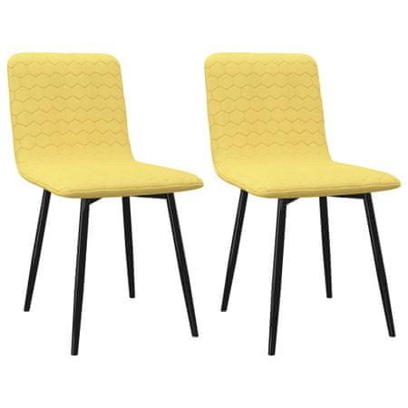 slomart Jedilni stoli 2 kosa rumeno blago