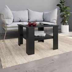 shumee Konferenční stolek černý 60 x 60 x 42 cm dřevotříska