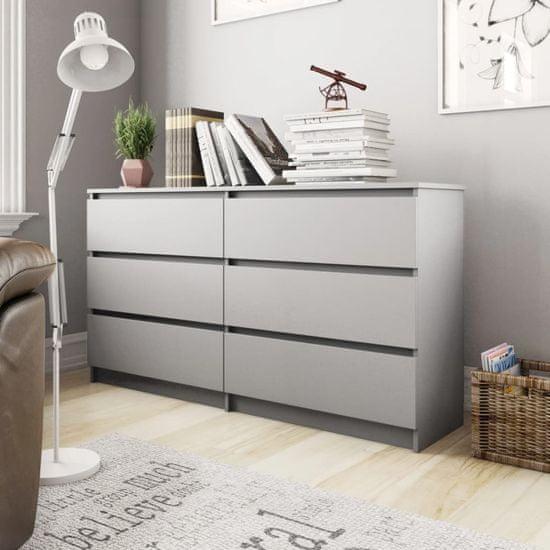 shumee Příborník šedý 140 x 35 x 76 cm dřevotříska