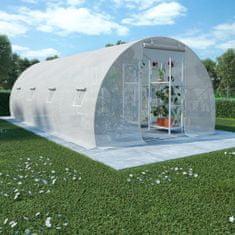 Szklarnia ogrodowa, stalowa konstrukcja, 18 m², 600x300x200 cm