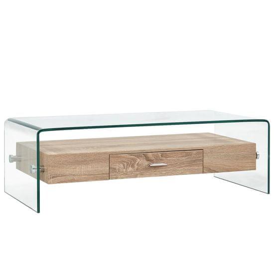 Konferenční stolek čirý 98 x 45 x 31 cm tvrzené sklo