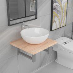 shumee Dvojdielna sada kúpeľňového nábytku dubová keramická