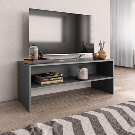 Szafka pod TV, szara, 100 x 40 x 40 cm, płyta wiórowa