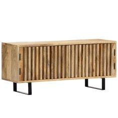 shumee TV stolek 90 x 30 x 40 cm masivní mangovníkové dřevo