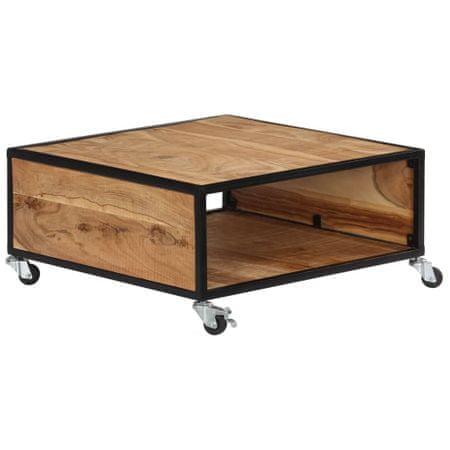 slomart Klubska mizica 70x70x32 cm trden akacijev les