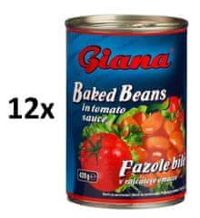 Giana Fazuľa biela v paradajkovej omáčke 12 × 425ml