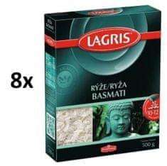 Lagris Rýže basmati dlouhozrnná 8× 500g