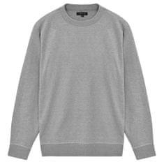5 swetrów męskich z okrągłym dekoltem, szary, L