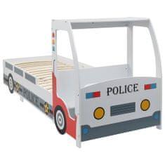 Detská posteľ policajné auto so stolom 90x200 cm