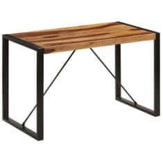 shumee Jídelní stůl 120 x 60 x 76 cm masivní sheeshamové dřevo