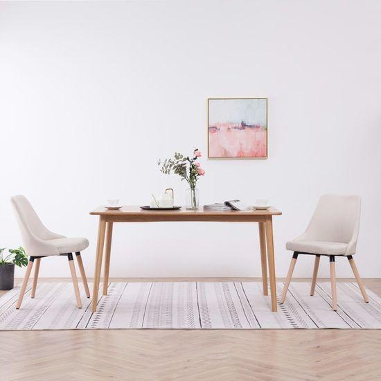 Jedálenské stoličky 2 ks krémové látkové