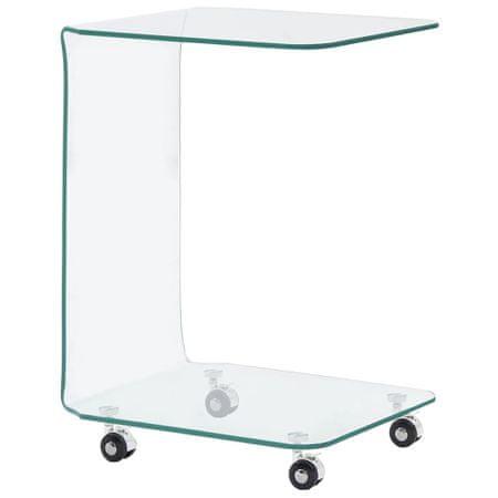 shumee Klubska mizica 45x40x63 cm kaljeno steklo