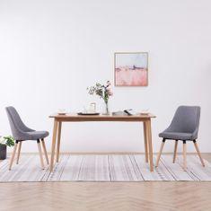 Vidaxl Jídelní židle 2 ks světle šedé textil