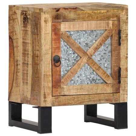 shumee Nočna omarica 40x30x50 cm trden mangov les