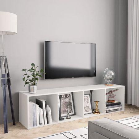 shumee fehér könyv-/TV-szekrény 143 x 30 x 36 cm