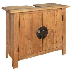 shumee Kúpeľňová skrinka, recyklované borovicové drevo, 70x32x63 cm