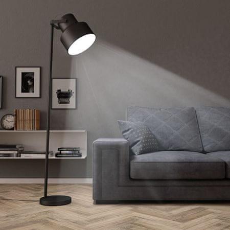 shumee fekete fém állólámpa E27