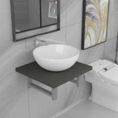 shumee Dvojdielna sada kúpeľňového nábytku sivá keramická