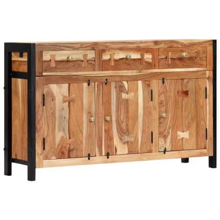 slomart Komoda 120x35x75 cm trden akacijev les
