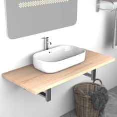 shumee Koupelnový nábytek dub 90 x 40 x 16,3 cm