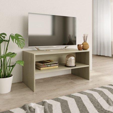 Szafka pod TV, dąb sonoma, 80 x 40 x 40 cm, płyta wiórowa