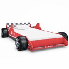 Detská posteľ pretekárske auto 90x200 cm červená