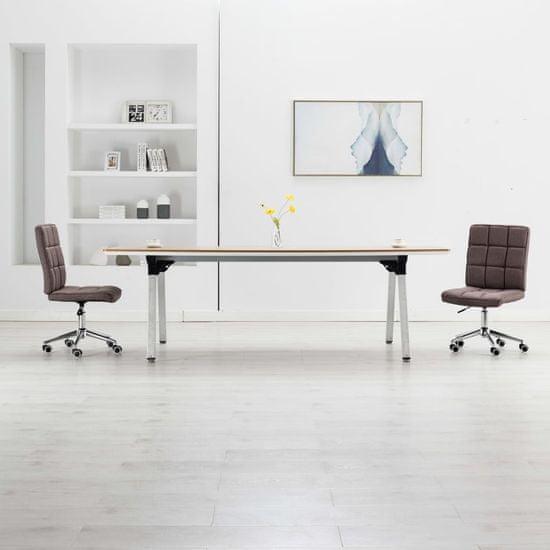 Jedálenské stoličky 2 ks, sivohnedé, látka