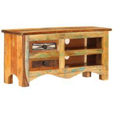 Szafka pod TV, 80x30x40 cm, lite drewno z odzysku