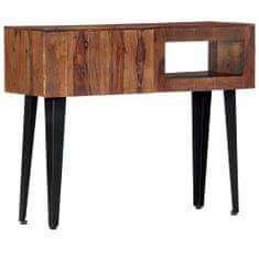 Konzolový stolík 90x30x75 cm sheeshamový masív