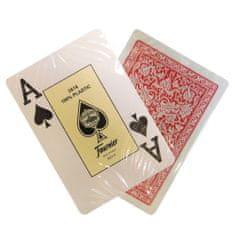 Fournier Karty Casino Jumbo 100% plastové, červené