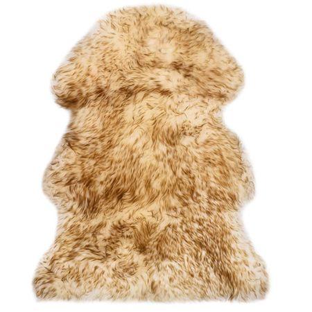 shumee barna melanzsszínű báránybőr szőnyeg 60 x 90 cm