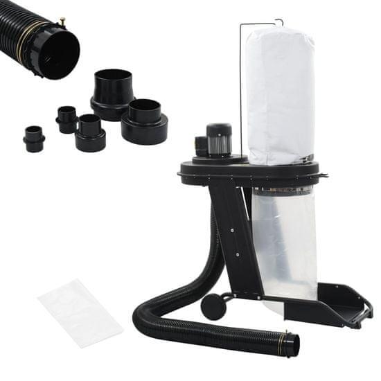 Vidaxl Odsavač prachu s adaptérem černý 550 W