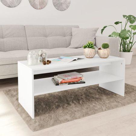 slomart Klubska mizica bela 100x40x40 cm iverna plošča