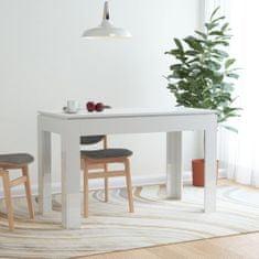 shumee Jídelní stůl bílý s vysokým leskem 120 x 60 x 76 cm dřevotříska