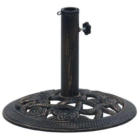 shumee fekete és bronzszínű öntöttvas napernyőtalp 9 kg 40 cm